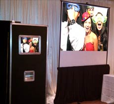 photo booth with projections